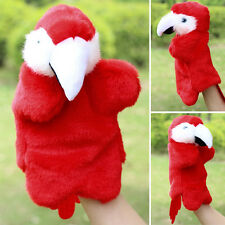 Parrot Hand Puppet Plush Bird Doll Baby Kids Story Telling Educational Toys Gift
