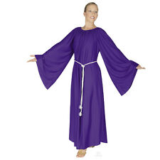 "NWT! Eurotard praise liturgical PLUS ANGEL dress PURPLE 4X chest 56"" dance wear"