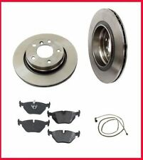 2001-2005 BMW 325i (2) Rear Brake Rotors & Pads & Sen