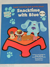 BLUE'S CLUES  SUPER COLORING & ACTIVITY BOOK , SNACKTIME WITH BLUE ,    1998,
