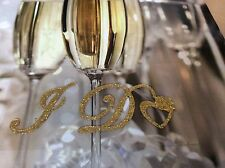 I Do Gold Glitter Wedding Shoe Sticker Sparkly Applique Easy to use Post Free