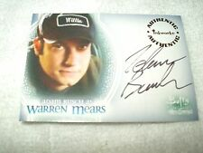 Buffy The Vampire Slayer Autograph Card Adam Busch as Warren Mears A8