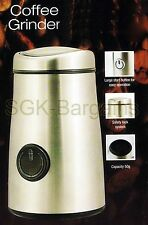 STAINLESS STEEL ELECTRIC COFFEE GRINDER 150W 50G BEANS SPICE NUT HERB ESPRESSO