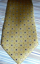 NEW $215 men BRIONI ITALY HANDMADE SILK TIE LUXURY Golden Yellow geometric b43