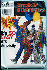 Children's Clown Costume Pattern - Sizes 2-12