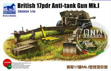 Bronco Model kit 1/35 British 17-pounder Anti-tank Gun MK.I #CB35024