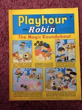 PLAYHOUR AND ROBIN COMIC. VFN CONDITION. PUZZLES NOT DONE. (