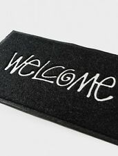 New Stussy Black Welcome PVC Door Mat Carpet Rug Plastic Waterproof In/Outdoor