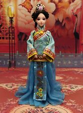 Handmade Qing Dynasty Barbie Kurhn Outfit Traditional Chinese Cheongsam Sky Blue