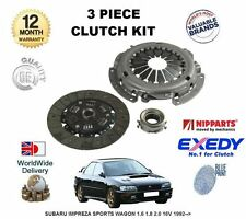 FOR SUBARU IMPREZA  SPORTS WAGON 1.6 1.8 2.0  16V 1992--  NEW 3 PIECE CLUTCH KIT