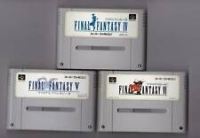 Nintendo Super Famicom Final Fantasy IV V VI set FF 4 5 6 Japan SFC