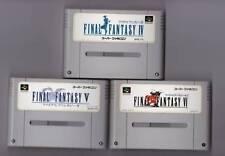 Nintendo Super Famicom Final Fantasy IV V VI set FF 4 5 6 Japan SFC