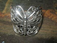 925 STERLING SILVER BEAUTIFUL FILIGREE BUTTERFLY RING SIZE 4 3/4 and 5