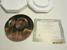 8 limited edition collector plates;The Big Cats, from Franklin and Danbury Mint