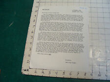 original letter to STAR TREK FANS TO SAVE STAR TREK from John & Bjo TRIMBLE 1967