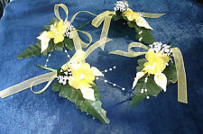 Yellow/Cream/White Calla Lily/Gyp   Buttonhole - Wedding  Flowers - by Valerie J