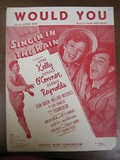 Vintage Sheet Music Would You Gene Kelly Debbie Reynolds Singin in the Rain 1936