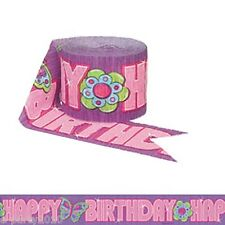 GLITZY GIRL CREPE PAPER STREAMER ~ Birthday Party Supplies Room Decorations