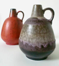 70s Ruscha Keramik Vase purple Glaze west german fat lava pottery Otto Gerharz