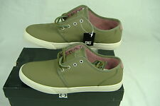 """New Mens 12 DC """"Studio LE"""" Army Green Leather Skate Shoes  $75"""