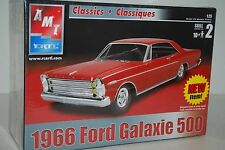 AMT Ertl 1966 Ford Galaxie 500 Red Kit # 31546 1:25 Scale NEW SEALED JM 87F