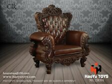 "HAOYUTOYS 1/6 Scale Brown Single Sofa Chair Model F/12"" Action Figure Body Doll"