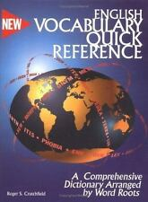 English Vocabulary Quick Reference: A Dictionary Arranged by Word Root-ExLibrary