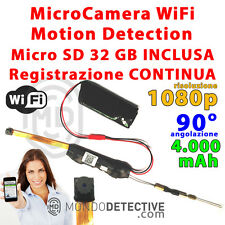 MICRO CAMERA TELECAMERA NASCOSTA SPY SPIA HD WIFI P2P MOTION DETECTION CAM NEW