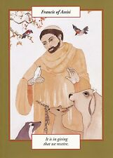 GREETING CARD spiritual art SAINT FRANCIS of ASSISI Saints and Sages Christian