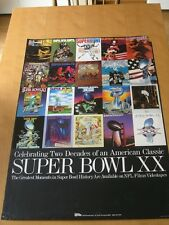 Vintage 1985 Poster Celebrating Two Decades Of An American Classic Super Bowl XX