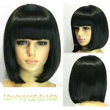 BOB style (4 colors) Straight Bang short Straight Wig wigs with wig cap