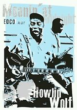 Howlin Wolf blues poster prints hand signed by artist