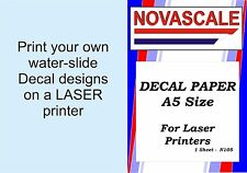 Decal Paper Clear A5 Size LASER Print N105  x1 Sheet