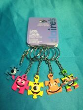 Five Claire's BFF Puzzled Face With Googly Eyed Keychains