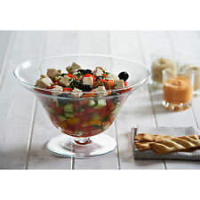 27cm Footed Glass Salad Fruit Bowl Round Large Party Sweets Dessert Serving Dish