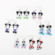 Lots 6x Pairs Mickey Mouse Earrings SET GIRL KID Birthday Party Bag Favor Gift