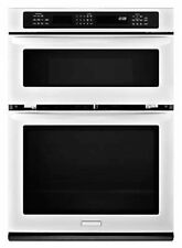 "KitchenAid Architect II 27"" White Microwave Wall Oven Combo KEMS379BWH"