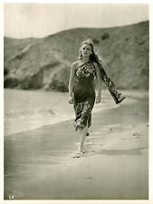 """LE VOILIER MAUDIT (EBB TIDE)"" Photo originale 1937 (Frances FARMER)"