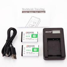 2x NP-BX1 Battery & Charger for Sony Cyber-shot DSC-RX100 HDR-AS15 AS10 HX300 AU