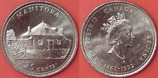 Brilliant Uncirculated 1992 Canada Manitoba 25 Cents From Mint's Roll