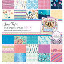 "Grace Taylor Boheme 12"" x 12"" Scrapbook Paper Pad 100 Sheets - GS2733"