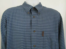 Lot 2 Weatherproof Garment Co. Long Sleeve Mens Shirts Brown Blue Button Front