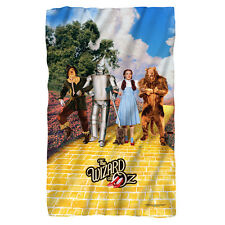 "THE WIZARD OF OZ ON THE ROAD Polar Fleece Throw Blanket 36"" x 60"""