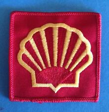 Vintage 1980's Shell Oil F-1 Racing Sponsor Hat Jacket Racing Gear Patch Crest C