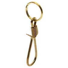 New Brass Carabiner Fish Hook Buckle Key Ring Keyring Chain Pendant Fob Man Gift