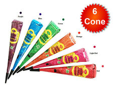 6x GOLECHA INSTANT MULTI COLOR HENNA CONES For Temporary Tattoos