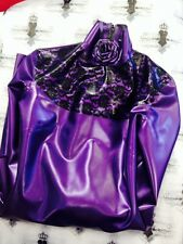 Westward Bound PEARLSHEEN PURPLE Lace Latex Rubber Rose Dress £334 X182 size 16