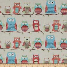Hootenanny  Owls by Timeless Treasures 100% Organic Cotton Fabric  FQ