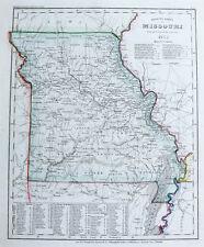 1851 USA Missouri Stahlstich-Landkarte