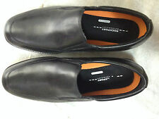 Rockport V75100 Essential Details WaterProof Black Leather Slip On MENS US15
